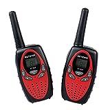 Retevis RT-628 Walkie Talkie VOX 8 Canali UHF 446MHz Mini Ricetrasmettitore  per Bambini (Rosso e Nero)