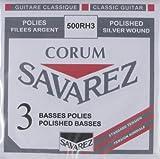Savarez 656118 - Cuerdas para Guitarra Clásica Alliance Corum 500RH3 Juego 3 pieza cuerdas graves Tensión standard rojo