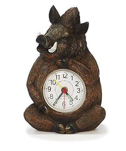 Uhr Wecker Wildschwein 14cm Keiler Uhren Tier Tiere Frischling Waldtiere Jäger