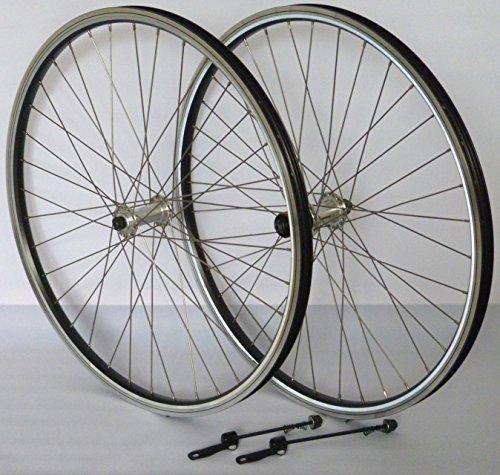 Vuelta 28 Zoll Fahrrad Laufradsatz Reflex Hohlkammerfelge schwarz Shimano TX500 inkl. Schnellspanner Silber NIRO Silber -