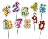 Unbekannt 10 Stück Zahlen zum Stecken - Partyzalen z.B. für Geburtstagskuchen Schulanfang Deko Schuleinführung Geburtstag