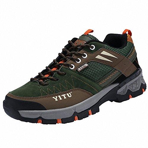 Ben Sports Calzature da escursionismo Scarpe da escursionismo Stivali da escursionismo da donna Uomo verde