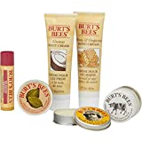 Burt's Bees Tips and Toes Kit Travel Size Natural Products in Gift Box with 2 Hand Creams, Foot Cream, Cuticle Cream, Hand Salve and Lip Balm