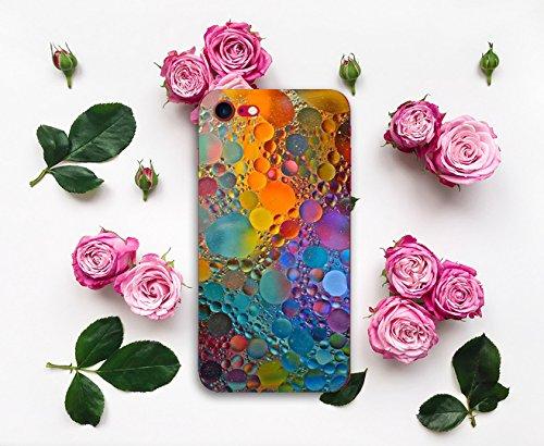 Coque pour Apple iPhone 7, Qissy® Ultra Slim TPU Case Marble Modèle simple Housse Silicone Extrême Souple Etui Gel Fine Arrière Couvercle casse créatif E