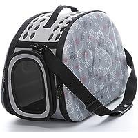 Jaula de viaje portátil para mascotas, lados suaves, portátil, resistente, cómoda, de EVA, transportín para perros y gatos