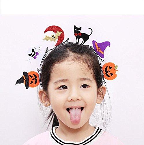 Rcdxing Halloween Haarnadel Fledermäuse Kürbis Schädel Kopfschmuck Geschenk lustig Halloween Party Dress Up-Random