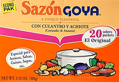 Sazon Goya Con Culantro Y Achiote Seasoning 100g Econo Pak Box Coriander & Annatto