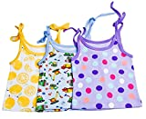 #10: Baybee Premium Quality Sleeveless Jabla / Top / Shirt ( Shoulder Knot) For 6 - 12 Months - Unisex Random Colors and Prints ( Pack of 3 )