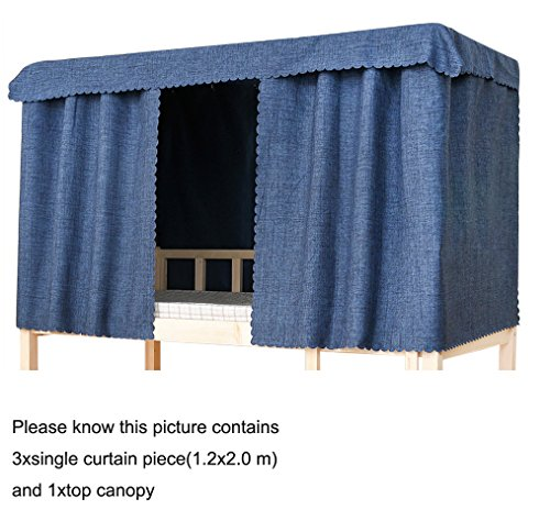 Studenti spesso dormitorio letto a castello tenda luce antipolvere plain ombreggiatura baldacchino diffusione della luce 95% tende oscuranti per letto singolo zanzariera protezione panno tenda tenda, dimensioni 1.2x 2.0cm
