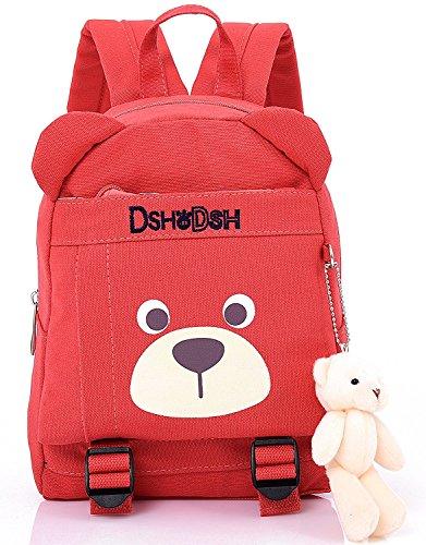 Imagen de  infantil camping guarderia escuela viaje saco perro oso animales mascotas viaje rojo niña