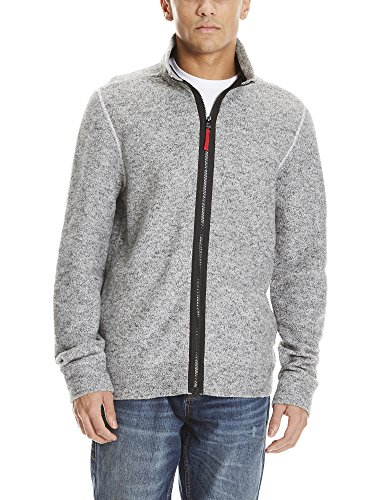 Bench Herren Jacke Funnel Zipper Structured Felpa Grau (Grey Marl 11251)