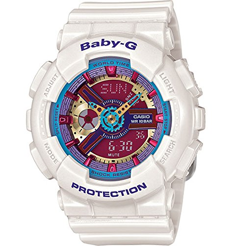 Casio Baby-G Multicolor Dial White Resin Multi Quartz Ladies Watch BA112-7A
