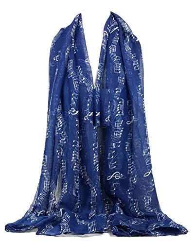 GFM - Bufanda - Animal Print - para mujer azul MU-03-GHNL - Blue Large
