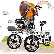 JARONOON Triciclos Dobles de los Asientos de la Madre y del bebé, Cochecito de bebé