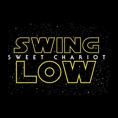 Star Wars Logo Rugby Swing Low Sweet Chariot Stars Men's T-Shirt Black