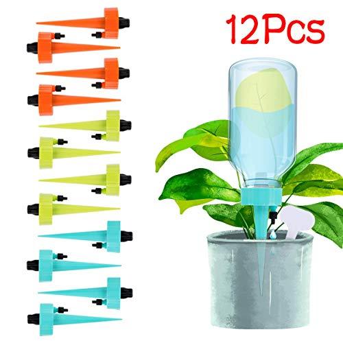 Patio-Rasen-Garten,TwoCC Bewässerung Spikes Pflanze Selbst Einstellbar Einsätze System Urlaub Pflanze Tränke 12St -