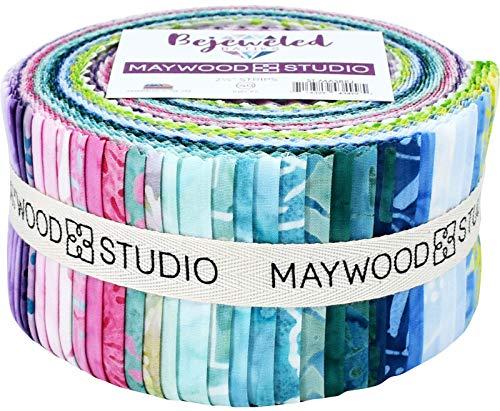 Bejeweled Batiks Jelly Roll Maywood Studio Klebestreifen, 6,4 cm, 40 Stück (Quilten Stoff Jelly Rolls)
