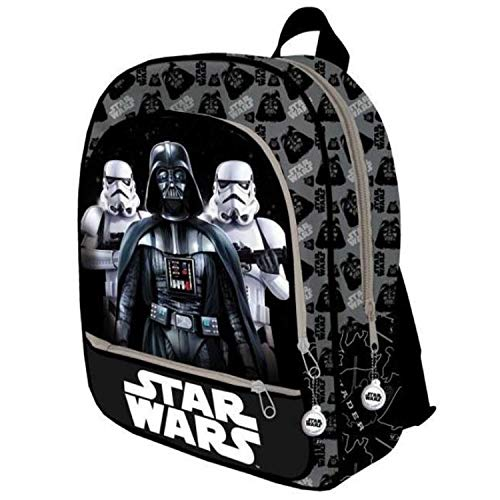Star Wars Mochila 3 Cremalleras 41x33x12 cm Adaptable/carro Star W Kinder-Rucksack 41 Centimeters  Mehrfarbig (Multicolor) (Wars Star E Spaziergang)