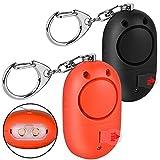 Mini Alarme Personnelle 130db avec Torche LED (2 Pack) Olycism Alarme d'urgence pour...