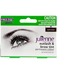 Julienne Eyelash and Eyebrow Permanent Dark Brown 03 Colour Tint 15ml
