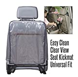 #10: Okayji Waterproof Car Seat Back Protector Pair, Clear