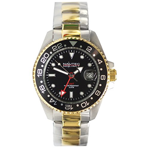 Nautec No Limit Men's Watch Jackfish JKFS-QZ-GMT-STGDSTGDBKBK