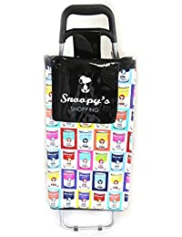 Snoopy [N5195] - Caddy de course / Chariot shopping 'Snoopy' noir multicolore