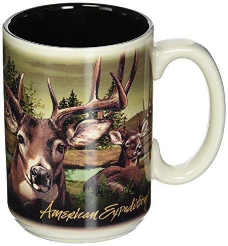 American Expedition Wildlife Collage Serie 444ml Steingut Kaffee Tasse (dreibinden Deer) American Wildlife Serie