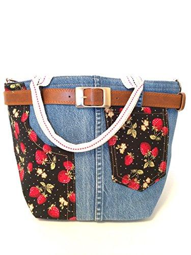 357e66d147eb Retro Denim Handbag by Charkorn. Each bag is unique with contrast fabric  designs. Made