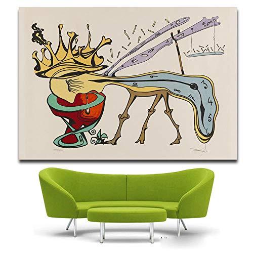 yiyiyaya Gemälde von Blumen Della civilta Uhren Surreal Classic Art Gemälde Silk Poster Decor -16x22inch_Salvador_DALI