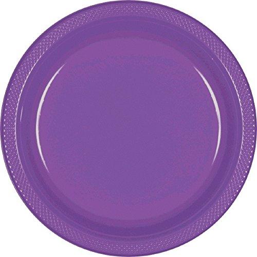 Kunststoff-platten Lila (Amscan International 22.8cm Platte Kunststoff (Lila) 20 Platten)
