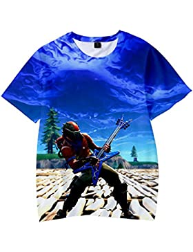 Camiseta Fortnite Estampado Top Sudaderas de Sport Manga Corta Blusa Camisetas Casual 3D Impresión Tops Fortnite...