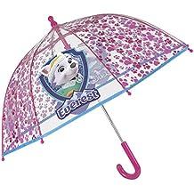 Paraguas Largo Transparente de Burbuja La Patrulla Canina Paw Patrol con Skye y Everest para Niñas