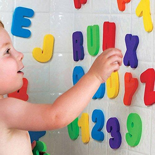lhdong Wandaufkleber 36X Schaum Buchstaben Zahlen Schwimm Bad Badewanne Spielzeug Für Baby Kinder Kind Spielzeug Wandaufkleber Heißer Lager
