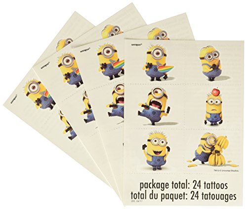 Despicable Me 2 Temporary Tattoos [4 Sheets] (Supplies Party 2 Despicable Me)