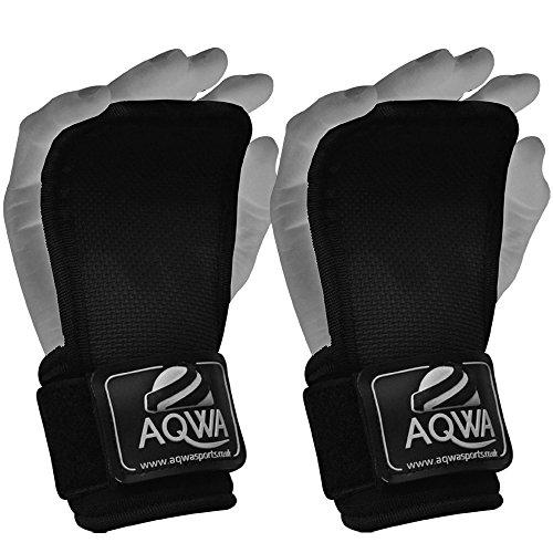 AQWA Gewicht Lifting Gym Palm Wrist Wraps Trainingsbndern Grip Bandage Bodybuilding Training Workout -