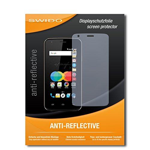 SWIDO Schutzfolie für Allview P4 eMagic [2 Stück] Anti-Reflex MATT Entspiegelnd, Hoher Härtegrad, Schutz vor Kratzer/Bildschirmschutz, Bildschirmschutzfolie, Panzerglas-Folie