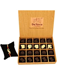 DEARCO CHOCOLATIER CHOCOLATE GIFT BOX, RAKHI CHOCOLATE For BROTHER, Luxury Rakhi Gift, PREMIUM RAKHI GIFT CHOCOLATES... - B073ZN4XPK
