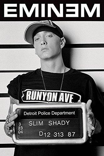 Close Up Eminem Poster Verbrecherkartei (61cm x 91,5cm) -