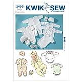 Kwik Sew Mustern k2433Größe XS–klein–mittel–groß–Extra Groß, hat SUPERMOBILE–klein–mittel–groß Strampelanzug, Jumpsuits, GAP und Beute, weiß, 1Stück