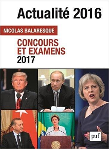 Actualit 2016 : Concours et examens 2017