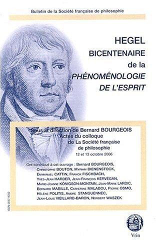 Hegel. Bicentenaire de la Phénoménologie de l'esprit