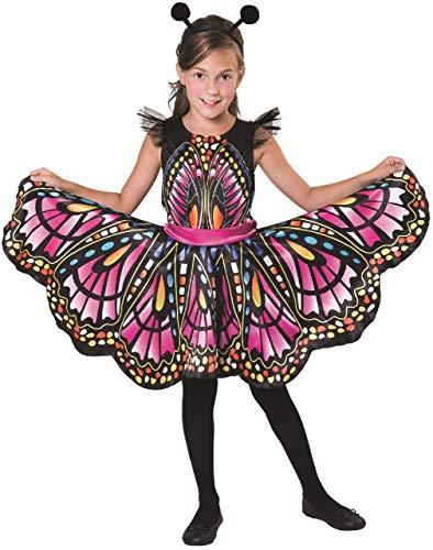 Schmetterling Kostüm Pet - Fancy Me Wunderschönes Schmetterlings-Tierkostüm für Mädchen, Tiermotiv, Natur, Karneval, Weltbuch/Woche, 4-12 Jahre