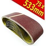 10 x Schleifbänder, K 120, Schleifband Bandschleifer 75x533mm 10Stk