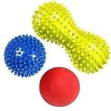 RIGHTWELL Massageball für Plantarfasziitis - Fußmassage Balls Schmerzlinderung für Haken & Fußgewölbe,Stressreduzierung und Entspannung durch Triggerpunkt-Therapie