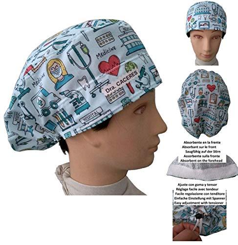 OP-Hauben Medizinisches Instrument Langes Haar Absorbierender Streifen Einfach und bequem einstellbar Benutzerdefinierter Name in Option