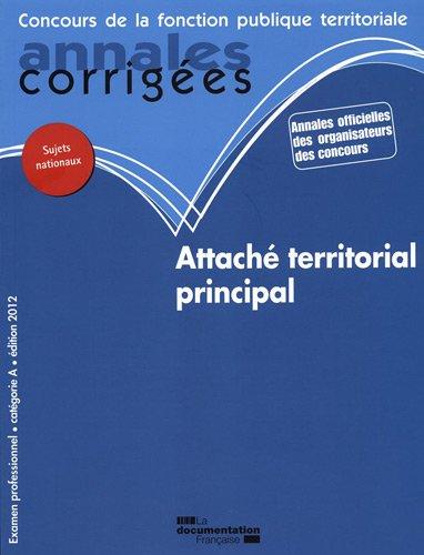 Attach territorial principal 2012 - Examen professionnel - Catgorie A