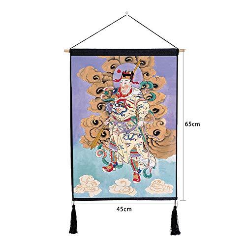 Katze Hat Was 2 Kostüm 1 - Chinesische tür Gott malerei malerei Schlafzimmer Wohnzimmer Baumwolle leinen hängen Tuch N 46 * 65 cm