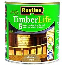 Rustins TLMO1000 Timberlife Vernis pour bois Chêne moyen 1 l