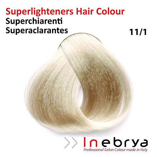 Coloration, 11.1 : Super Platine Très Clair Cendré - 100ml, Inebrya